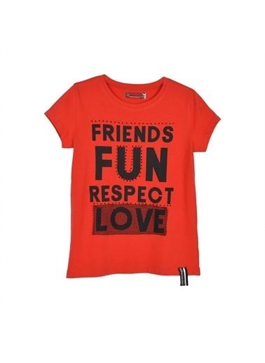 Silversun Kids Kız Genç Baskılı Kısa Kollu Tişört Bk 315620 Kırmızı